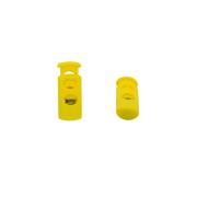 Фиксатор пласт. 27005-СС «цилиндр» малый д.4мм  2 шнура 22*9 мм цв. желтый уп.4шт 612629