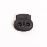 Фиксатор пласт. плоский малый 2 шн. черный (термостойкий)
