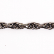 Цепочка K1830 стальная 9,9*7,2мм (уп. 10 м) т.никель