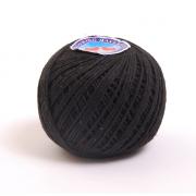 Шнур круглый 2 мм х/б 6208-1064  уп 100 м чёрный