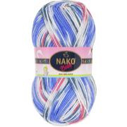 Пряжа Бамбино Матик (Bambino Matik), 100 г / 260 м, 9093 голуб.+бел.+роз.
