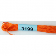 Мулине х/б 8 м Гамма, 3199 ярко-оранжевый