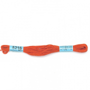 Мулине х/б 8 м Гамма, 5216 оранжево-красный