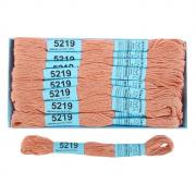 Мулине х/б 8 м Гамма, 5219 бежево-розовый