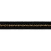 Тесьма отделочная 25 мм р. 90292 (уп 50 м) черный с золотом