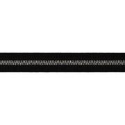 Тесьма отделочная 25 мм р. 90292 (уп 50 м) черный с серебром