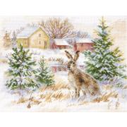 Набор для вышивания Алиса 1-31 «Зимний день. Заяц-русак» 23*17 см