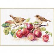 Набор для вышивания Алиса 5-17 «Пеночки и слива» 29*16 см