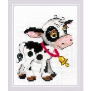 Набор для вышивания Риолис №1902 «Теленок с колокольчиком» 13*16 см