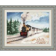 Набор для вышивания Золотое руно ДЛ-038 «Зимний экспресс» 22.3*30 см