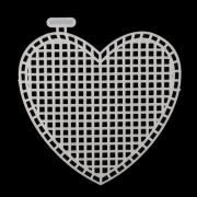 Канва пластик сердце 7*8 см  7707128