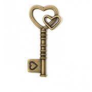 Подвеска MAGIC HOBBY MH.0211101-3 «Ключ» кулон 19*42 мм бронза