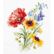 Набор для вышивания Алиса 2-48 «Букетик с маком» 13*16 см