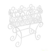 Декор KB2224 Металл Подставка для цветов 8*3,5*9 см 7717625 белый