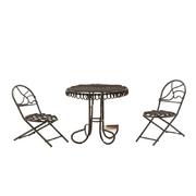 Декор KB3585 Металл стол 6*7 см с двумя стульями 3*4*7,5 см коричневый 7717644