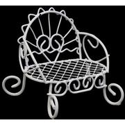 Декор Металл скамейка 8*7*6 см белый