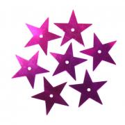 Пайетки «фигурки» Астра звездочки 13 мм (уп. 10 г) 50112 серебро