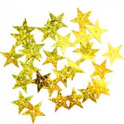 Пайетки «фигурки» Астра звездочки 13 мм (уп. 10 г) А20 золото