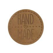 Термоаппликация Hand Made 4,5 см дизайн №40  100% кожа светло-коричневый 559433