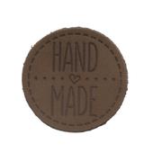 Термоаппликация Hand Made 4,5 см дизайн №42  100% кожа темно-коричневый 559433