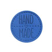 Термоаппликация Hand Made 4,5 см дизайн №46  100% кожа светло-синий 559433