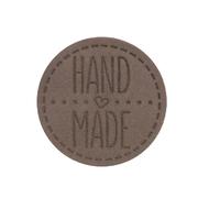 Термоаппликация Hand Made 4,5 см дизайн №53  100% кожа светлый шоколад 559433