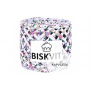 Пряжа Бисквит (Biskvit) (ленточная пряжа) карусель(ЛК)