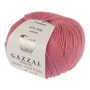 Пряжа Бэби Коттон (Baby Cotton Gazzal  50 г / 165 м 3435 розовый коралл