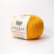 Пряжа Бэби Коттон (Baby Cotton Gazzal  50 г / 165 м 3417 желтый