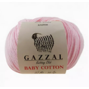 Пряжа Бэби Коттон (Baby Cotton Gazzal  50 г / 165 м 3411 нежно-розовый