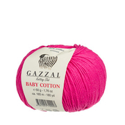 Пряжа Бэби Коттон (Baby Cotton Gazzal  50 г / 165 м 3415 малина