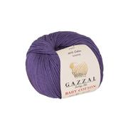 Пряжа Бэби Коттон (Baby Cotton Gazzal  50 г / 165 м 3440 черника