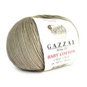 Пряжа Бэби Коттон (Baby Cotton Gazzal  50 г / 165 м 3464 серо-эеленый