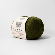 Пряжа Бэби Коттон (Baby Cotton Gazzal  50 г / 165 м 3463 болотный