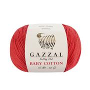 Пряжа Бэби Коттон (Baby Cotton Gazzal  50 г / 165 м 3418 коралловый