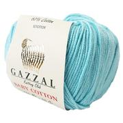 Пряжа Бэби Коттон (Baby Cotton Gazzal  50 г / 165 м 3452  бирюзово-голубой