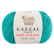 Пряжа Бэби Коттон (Baby Cotton Gazzal  50 г / 165 м 3426 т.мята