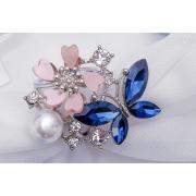 Украшение 1705337 для платков и шарфов «Бабочка с цветочком» 559787