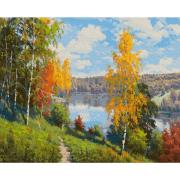 Картина по номерам Molly КН0983 Прищепа. «Осенний день» 40*50 см