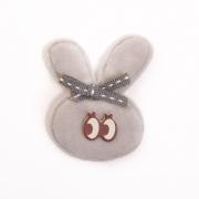 Украшение текстильное LA335 Ушастик 4*5,5 см серый