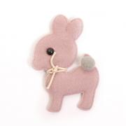 Украшение текстильное LA300  Ослик 5*7,5 см розовый