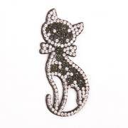 Украшение текстильное LA244 «Кошка» 2,5*6,5 см