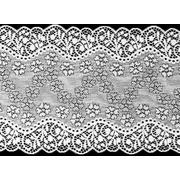 Кружево капрон 180 мм 3AR234 стрейч (уп. 13,72 м) белый 7727535