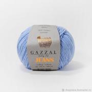 Пряжа Джинс-GZ (Gazzal, Jeans-GZ), 50 г / 170 м, 1105 голубой