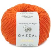 Пряжа Джинс-GZ (Gazzal, Jeans-GZ), 50 г / 170 м, 1156 оранжевый