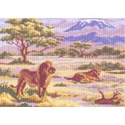 Рисунок на канве МП (24*30 см) 0054 «Львы»