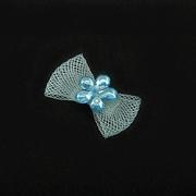 Бант пришивной 1-65 голубой