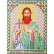 Ткань для вышивания бисером А5 иконы БИС МК-123 «Св. Фёдор» 12*16 см