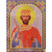Ткань для вышивания бисером А5 иконы БИС МК-118 «Св. Константин» 12*16 см