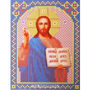 Ткань для вышивания бисером А5 иконы БИС МК-203 «Господь Вседержатель» 12*16 см